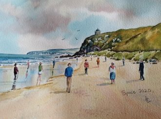 Downhill Beach Ashley Coulter Watercolour