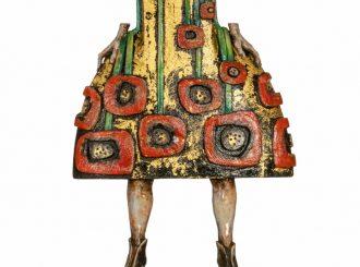 The Remembrance Dress 2017 Resin Steel Cold Wax Oils Polished Granite 23 Karat Gold Leaf45X19X13Cm