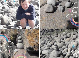 Finn O'Meara creates his own amazing rock family!