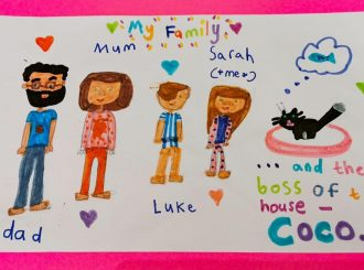 The Croxford Family drawn by Sarah