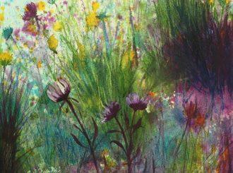 Rainbow Shadows by Sarah Mackay (Watercolour and mixed media, A2, £200)