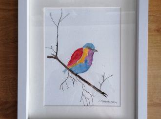 Little Bird, Caroline Pollock, watercolour
