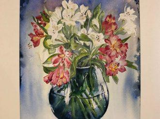 Never Fading Away, Justyna Sobocińska, watercolour, 29x39cm