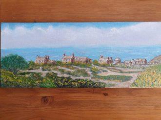 Village on the Sea, Eileen Hogan, Oil on canvas