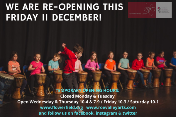 We are re-opening Friday 11th December!