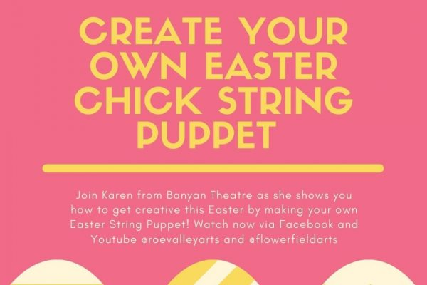 Create your own Easter Chick String Puppet
