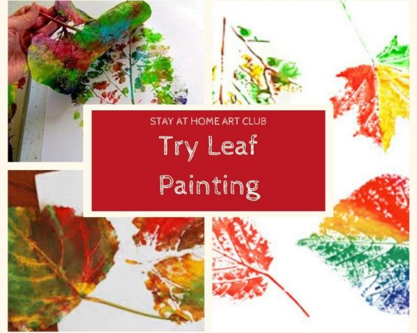 Try Leaf Painting and Printing!