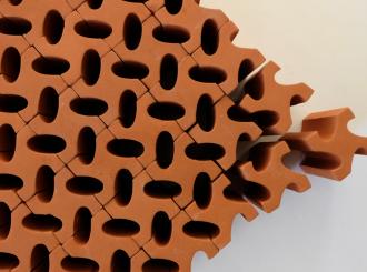 1  Owen Quinlan Tessellate 2018 Earthenware Terracotta