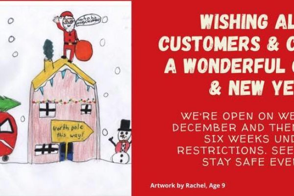 Happy Christmas and closure from 26 December